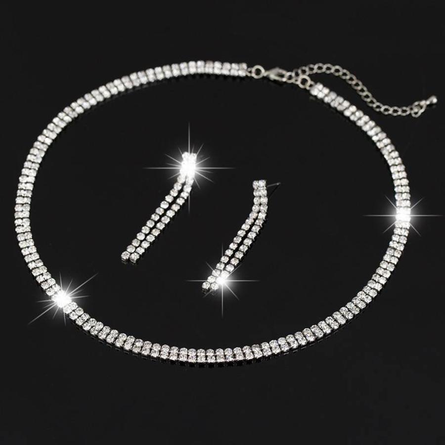 Sieraden Set Sparkle (Ketting & Oorbellen)-1