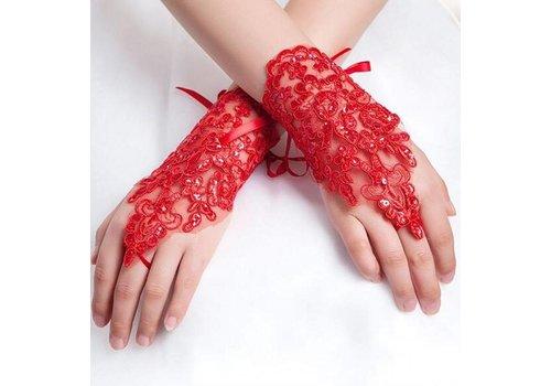 Elegante Bruidshandschoenen - Rood