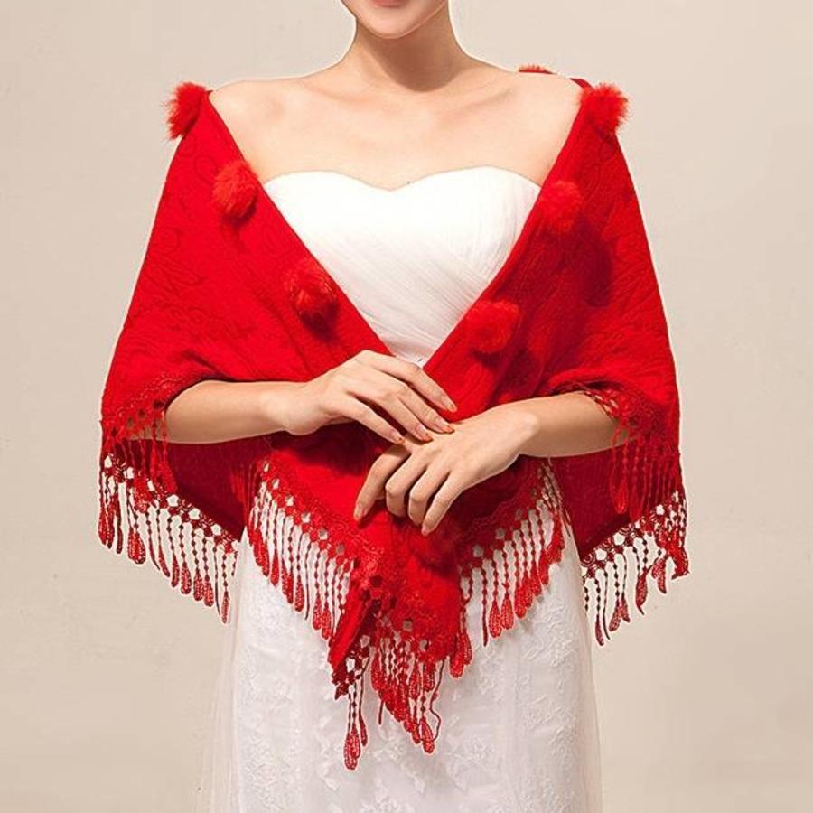 Prachtige Rode Sjaal-1