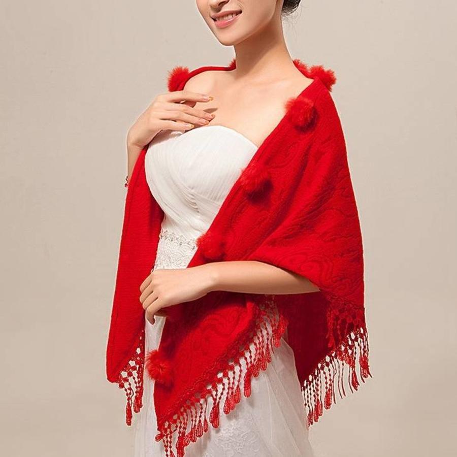 Prachtige Rode Sjaal-3