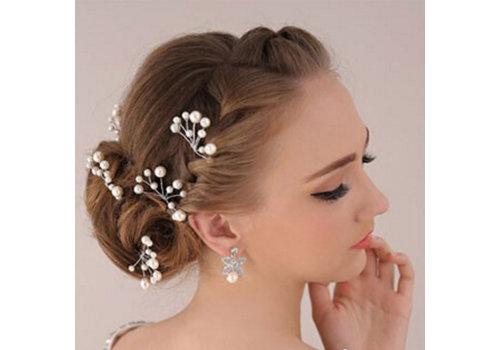 Hairpins – Parelmoer kleurige Parels - 2 stuks