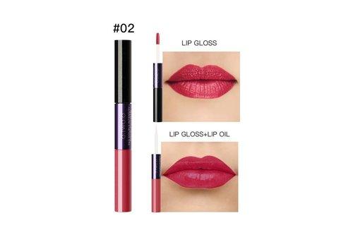 2-in-1 Matte  Lipgloss & Lip Oil - Color 02 Loving