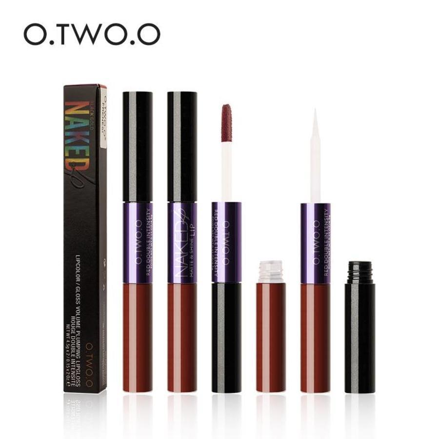 O.Two.O - 2-in-1 Matte Lipgloss & Lip Oil - Color 03 Warming-4
