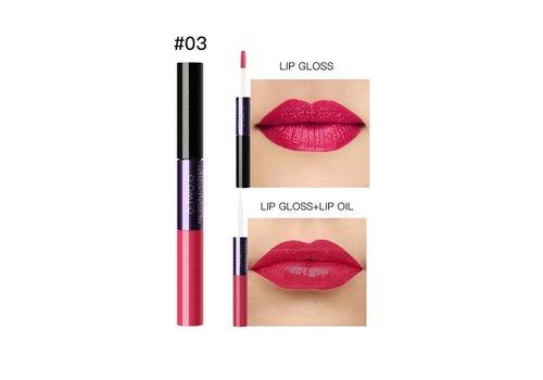 2-in-1 Matte Lipgloss & Lip Oil - Color 03 Warming