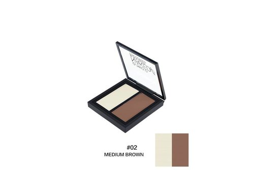 Powder Contouring Make-up Kit - Color 02 Medium Brown