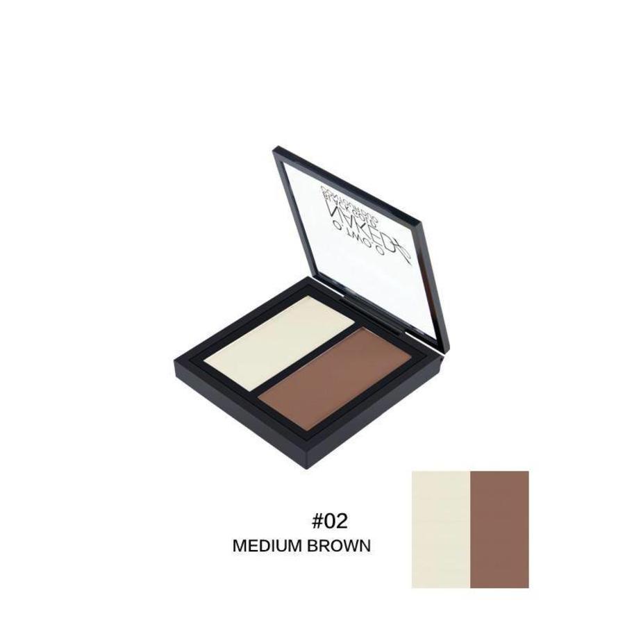 O.Two.O - Powder Contouring Make-up Kit - Color 02 Medium Brown-1