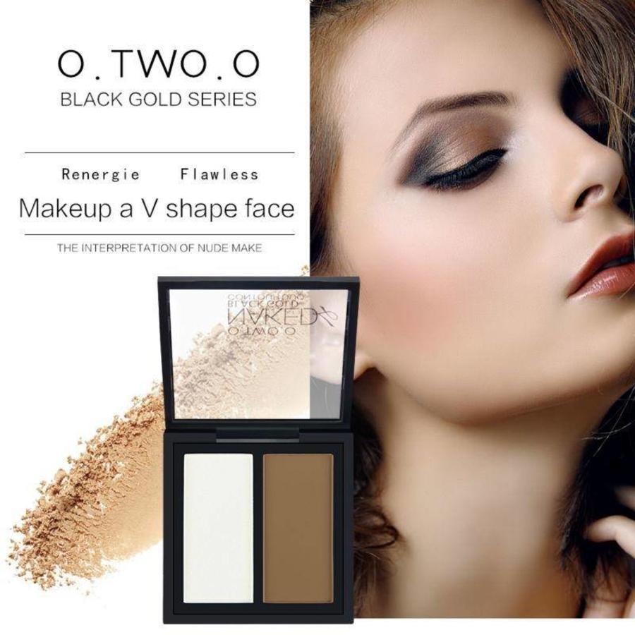 O.Two.O - Powder Contouring Make-up Kit - Color 03 Dark Brown-6