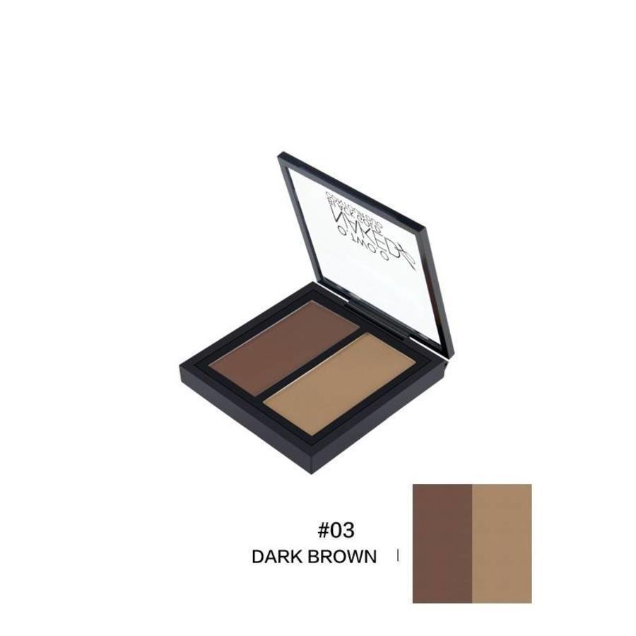 O.Two.O - Powder Contouring Make-up Kit - Color 03 Dark Brown-1