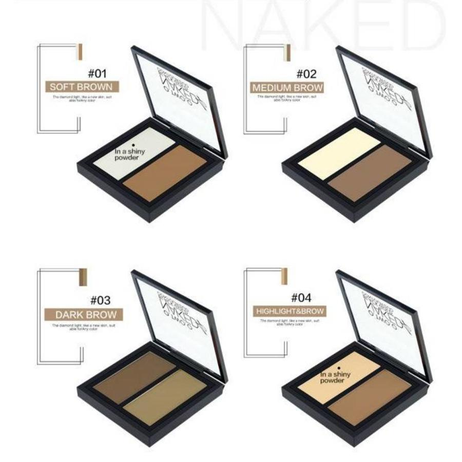 Powder Contouring Make-up Kit - Color 04 Highlight & Brown-2