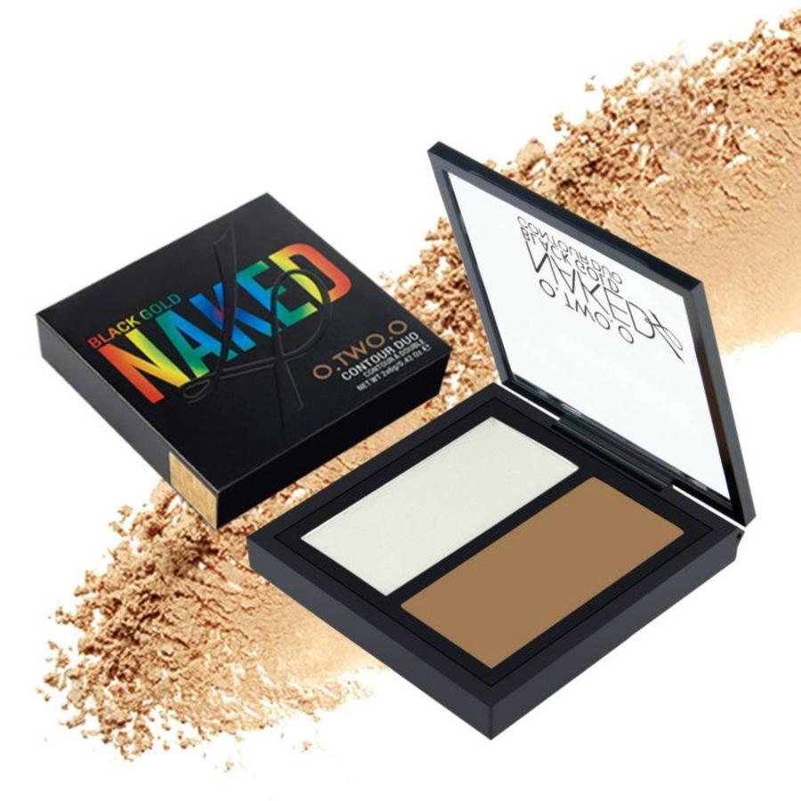 Powder Contouring Make-up Kit - Color 04 Highlight & Brown-7