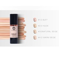 thumb-Fluid Foundation 24H Radiant - Color Warm Beige-5
