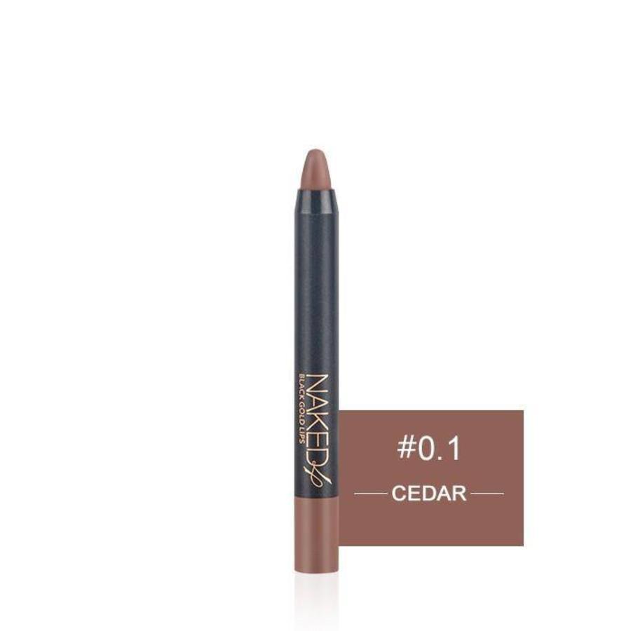 Crayon Matte Lipstick - Color 01 Cedar-4