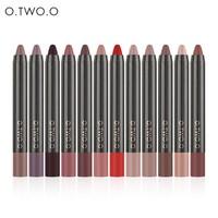thumb-Crayon Matte Lipstick - Color 02 Crimson-2