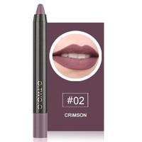 thumb-Crayon Matte Lipstick - Color 02 Crimson-1