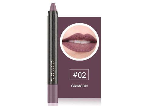 Crayon Matte Lipstick - Color 02 Crimson