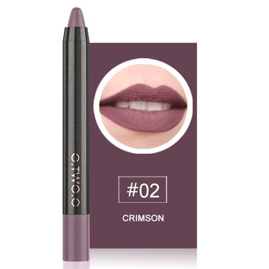 Crayon Matte Lipstick - Color 02 Crimson-1