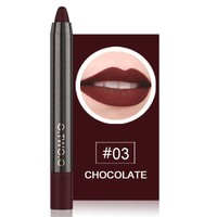 thumb-Crayon Matte Lipstick - Color 03 Chocolate-1