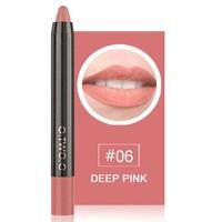 thumb-Crayon Matte Lipstick - Color 06 Deep Pink-1