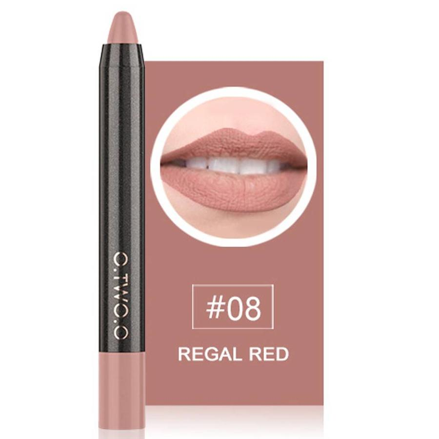 Crayon Matte Lipstick - Color 08 Regal Red-1
