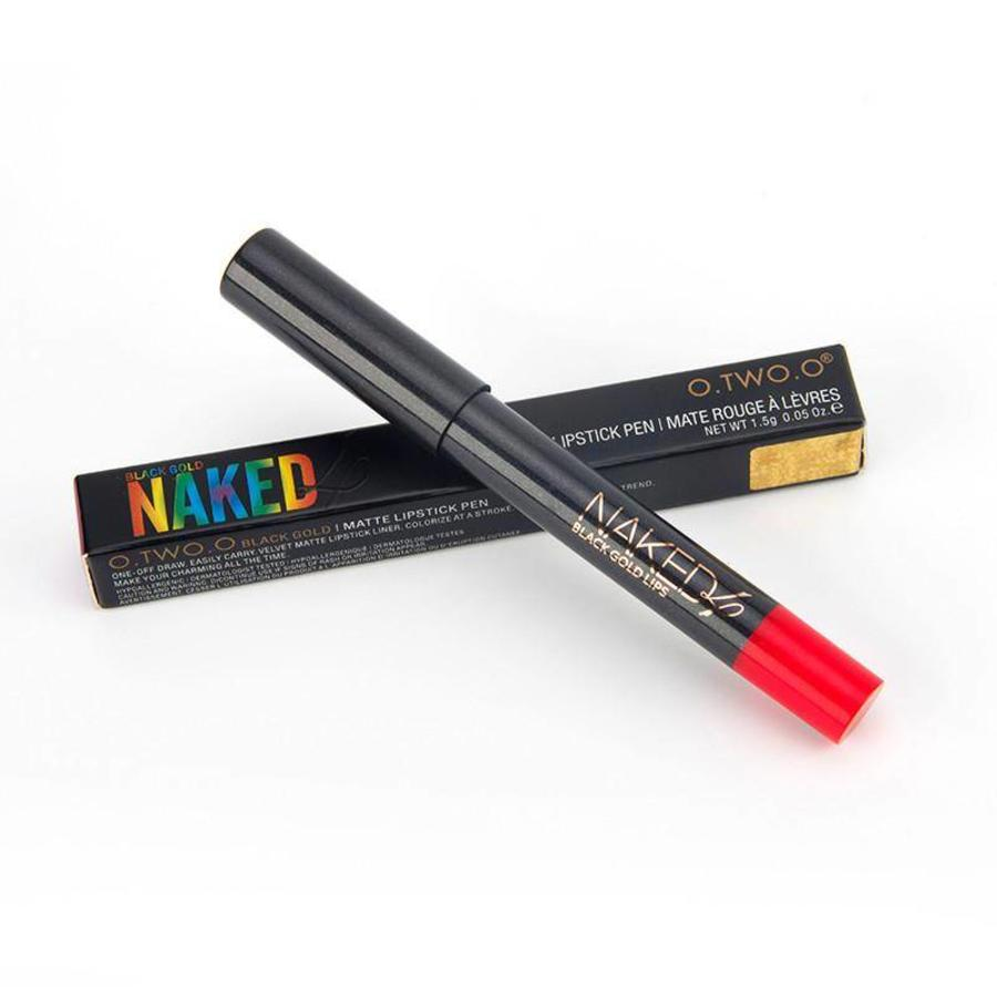 Crayon Matte Lipstick - Color 12 Ruby Red-8