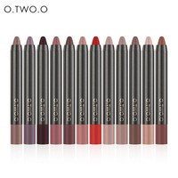 thumb-Crayon Matte Lipstick - Color 12 Ruby Red-2