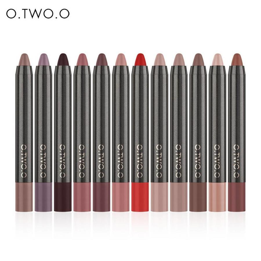 Crayon Matte Lipstick - Color 12 Ruby Red-2
