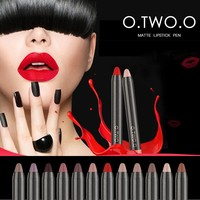 thumb-Crayon Matte Lipstick - Color 12 Ruby Red-3