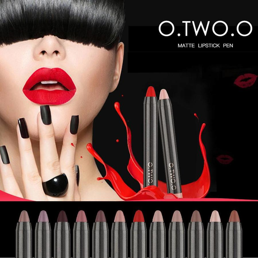 Crayon Matte Lipstick - Color 12 Ruby Red-3