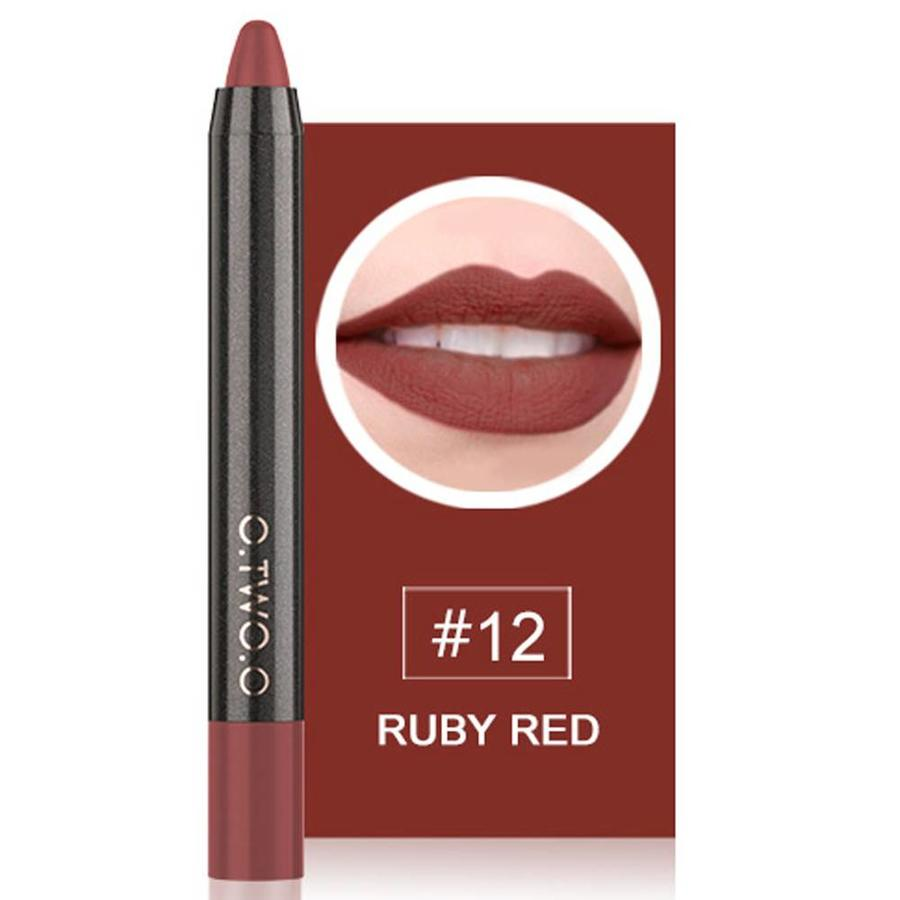 Crayon Matte Lipstick - Color 12 Ruby Red-1