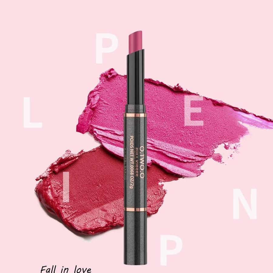 Matte Lipstick Pen & Lip Brush 2 in 1 - Color 0.2 Pop Orange-6