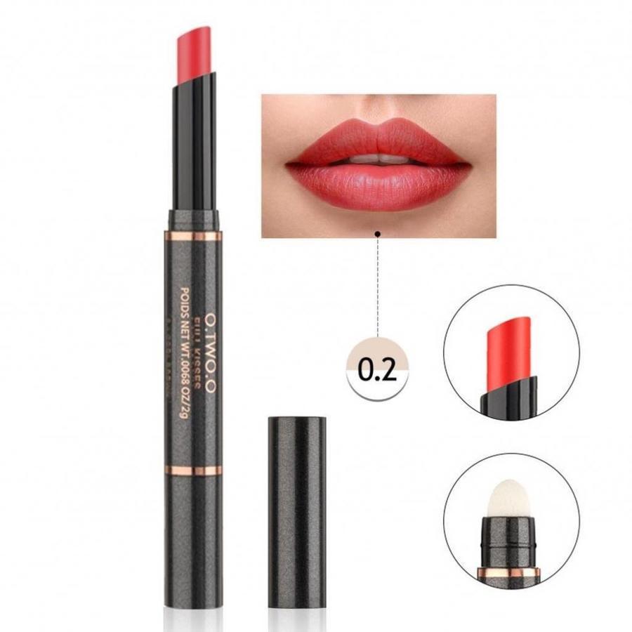 Matte Lipstick Pen & Lip Brush 2 in 1 - Color 0.2 Pop Orange-1