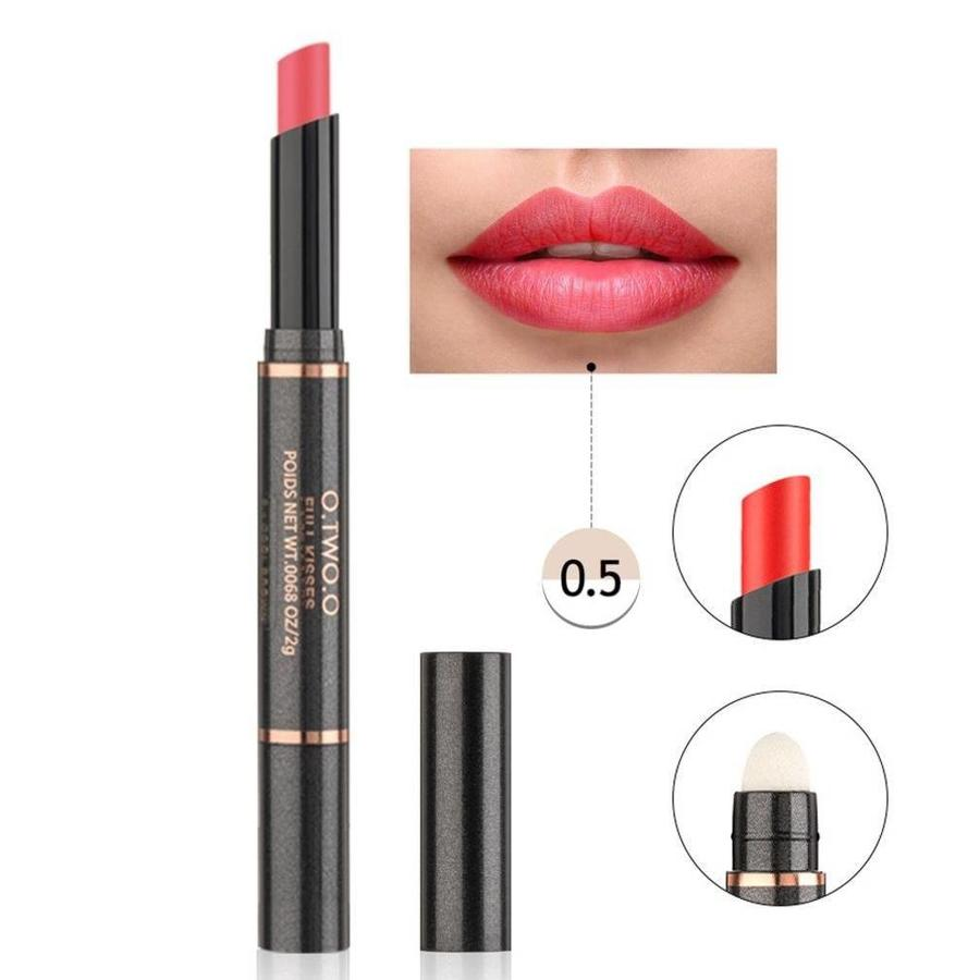 Matte Lipstick Pen & Lip Brush 2 in 1 - Color 0.5 Orange Scandal-1