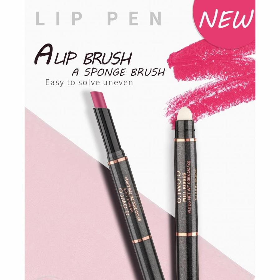Matte Lipstick Pen & Lip Brush 2 in 1 - Color 0.9 Fusion Orange-5