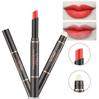 thumb-Matte Lipstick Pen & Lip Brush 2 in 1 - Color 1.0 Soft Coral-3