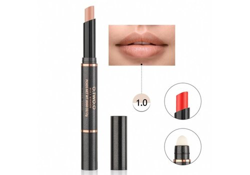 Matte Lipstick Pen & Lip Brush 2 in 1 - Color 1.0 Soft Coral