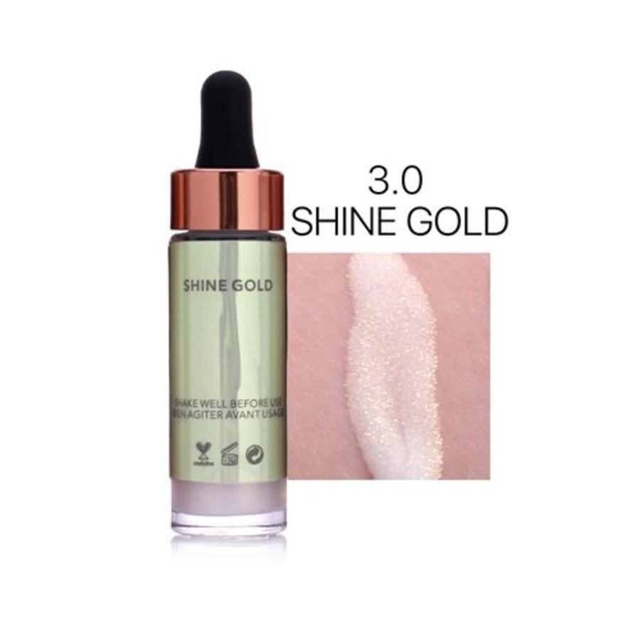 Highlighter Met Shimmer Glitter Effect - Color 3.0 Shine Gold-1