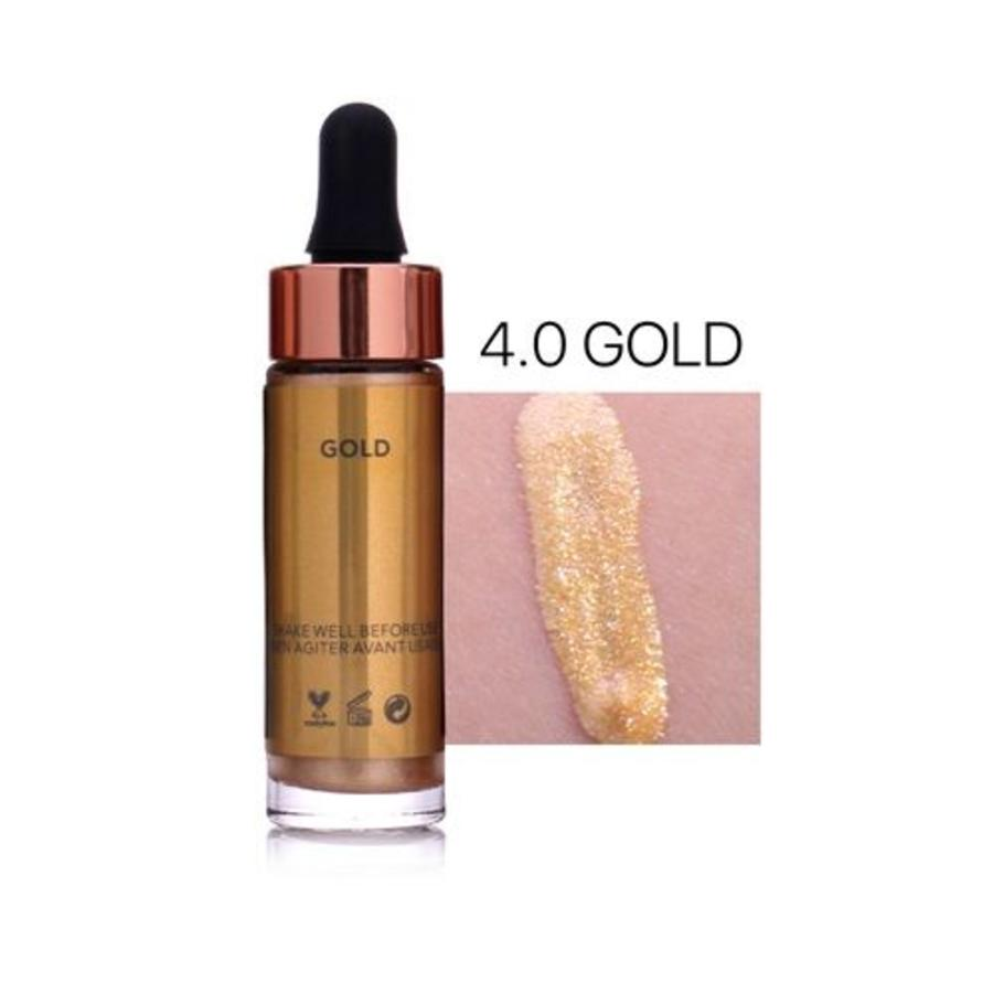Highlighter Met Shimmer Glitter Effect - Color 4.0 Gold-1