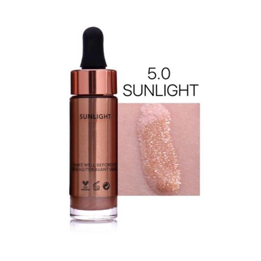 Highlighter Met Shimmer Glitter Effect - Color 5.0 Sunlight-1