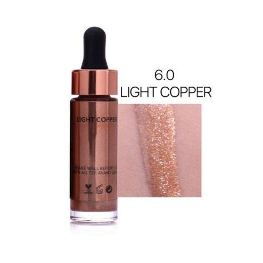 Highlighter Met Shimmer Glitter Effect - Color 6.0 Light Copper-1