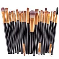 thumb-Make-up Brush Set Professional - 20 stuks - Black Gold-7