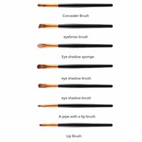 thumb-Make-up Brush Set Professional - 20 stuks - White with Black-3