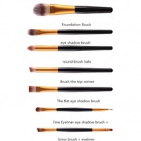 Make-up Brush Set Professional - 20 stuks - White with Black