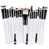 thumb-Make-up Brush Set Professional - 20 stuks - White with Black-6