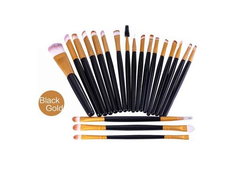 Make-up Brush Set Professional - 20 stuks - Black Gold