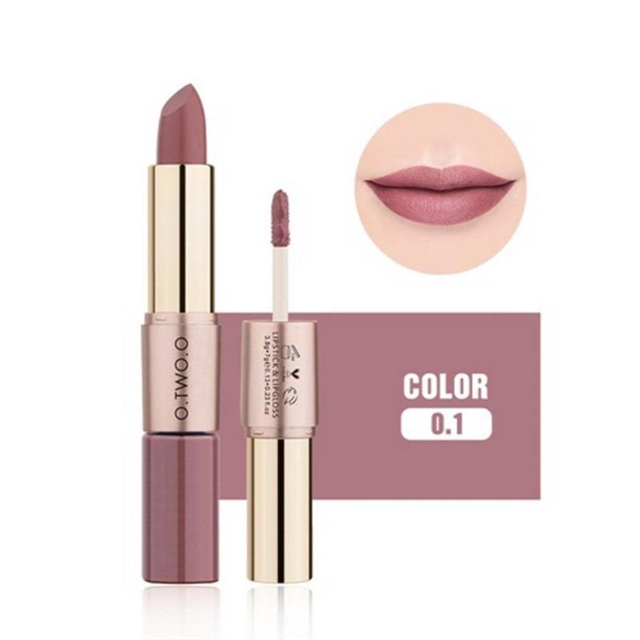 Matte Lipstick Pen & Liquid Suede Lipstick 2 in 1 - Color 0.1 Lolita-1