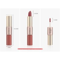 thumb-Matte Lipstick Pen & Liquid Suede Lipstick 2 in 1 - Color 0.1 Lolita-6