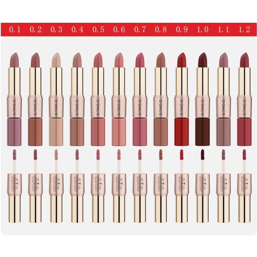 Matte Lipstick Pen & Liquid Suede Lipstick 2 in 1 - Color 0.1 Lolita-2