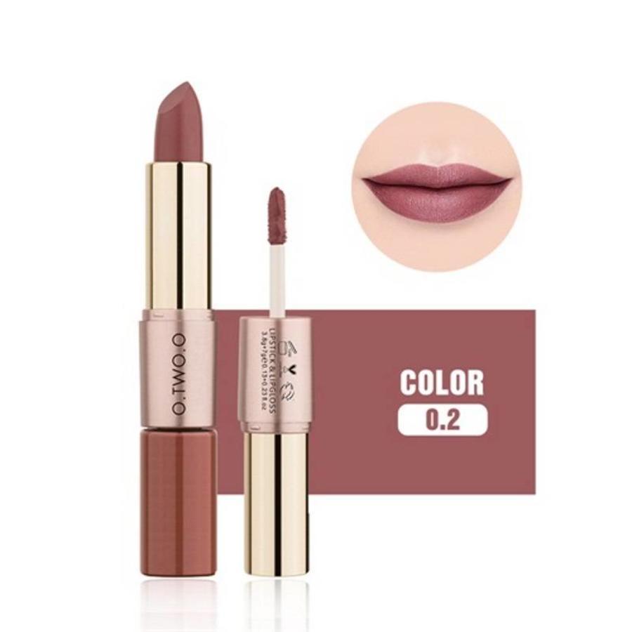 Matte Lipstick Pen & Liquid Suede Lipstick 2 in 1 - Color 0.2 Lolita II-1