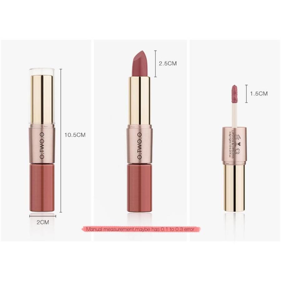 Matte Lipstick Pen & Liquid Suede Lipstick 2 in 1 - Color 0.5 Double Dare-6