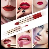 thumb-Matte Lipstick Pen & Liquid Suede Lipstick 2 in 1 - Color 0.5 Double Dare-3